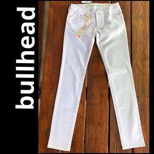 Bullhead hermosa super skinny jeans NWT white Sz 1